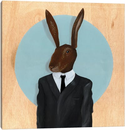 Rabbit by Famous When Dead Canvas Art Print