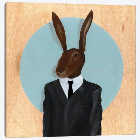 Rabbit Canvas Print #FAM27} by Famous When Dead Canvas Art