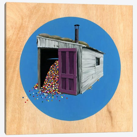 Shed II Canvas Print #FAM28} by Famous When Dead Art Print
