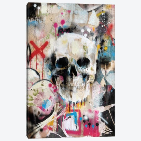 Skull Canvas Print #FAM29} by Famous When Dead Art Print