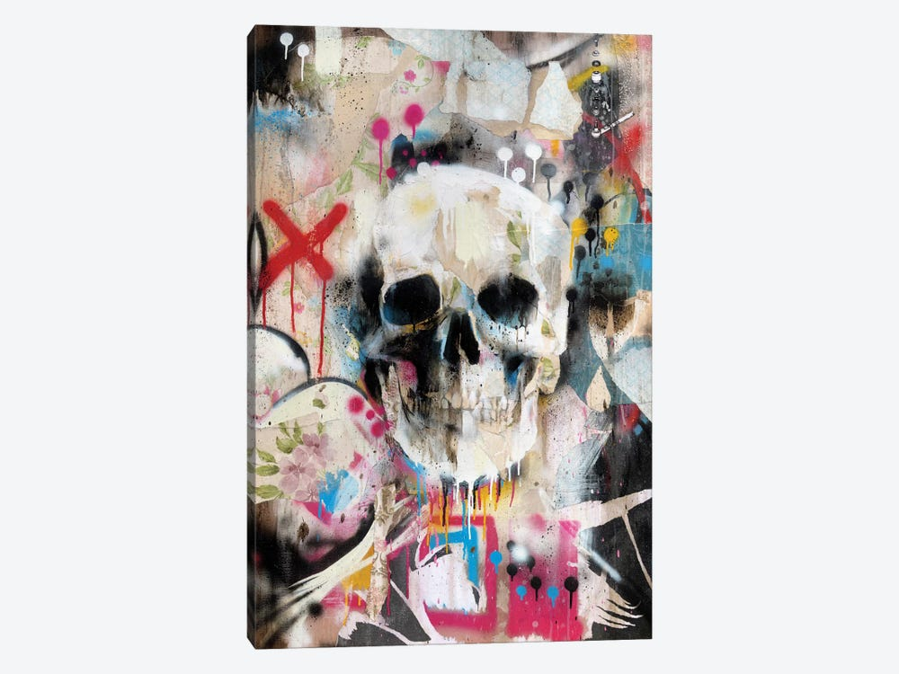 Skull by Famous When Dead 1-piece Canvas Wall Art