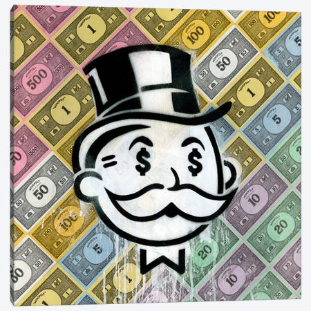 Another Day, Another Dollar Canvas Print #FAM2} by Famous When Dead Art Print