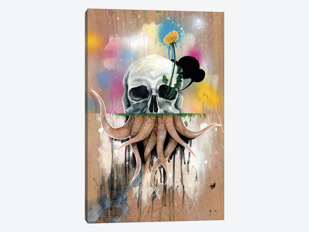Skull Roots 1-piece Canvas Wall Art