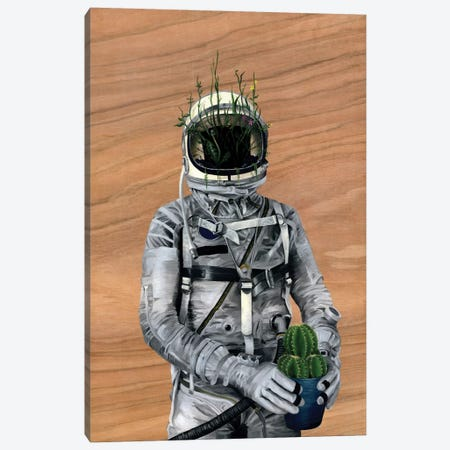 Spaceman I (Cacti) Canvas Print #FAM32} by Famous When Dead Canvas Art