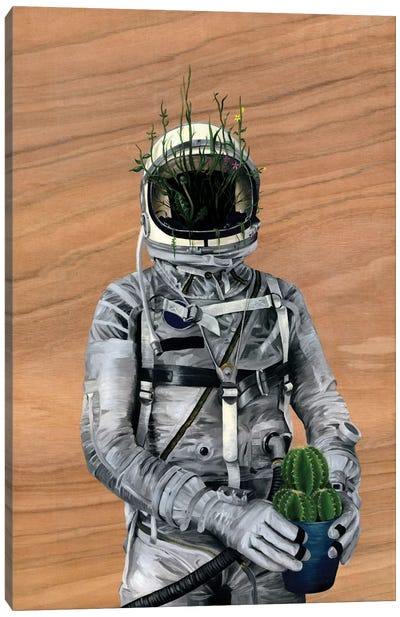 Spaceman I (Cacti) Canvas Print #FAM32