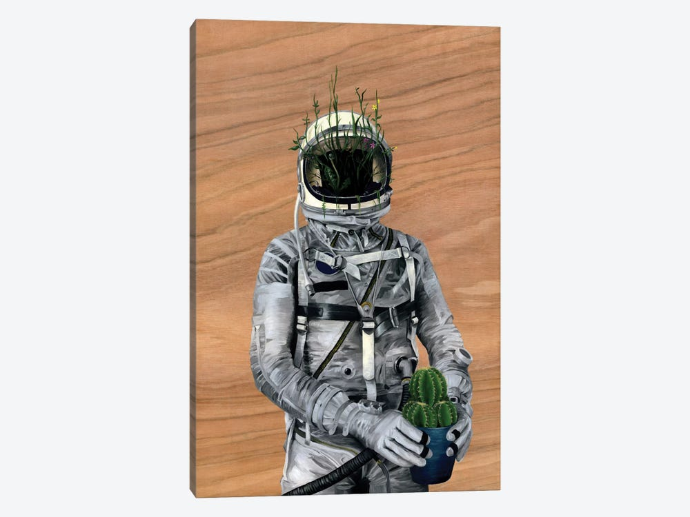 Spaceman I (Cacti) by Famous When Dead 1-piece Canvas Artwork