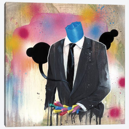 Suit Guy Canvas Print #FAM35} by Famous When Dead Canvas Print