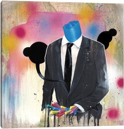 Suit Guy by Famous When Dead Canvas Art Print