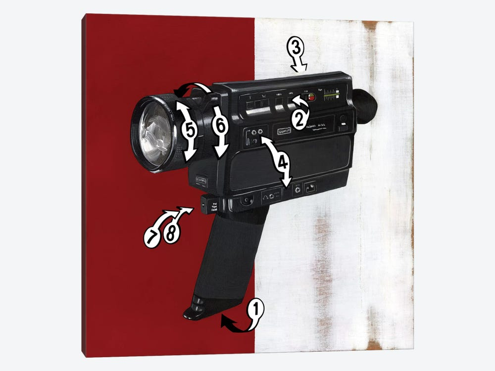 Super 8 by Famous When Dead 1-piece Canvas Art