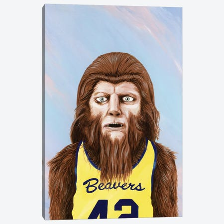 Teen Wolf Canvas Print #FAM37} by Famous When Dead Canvas Print