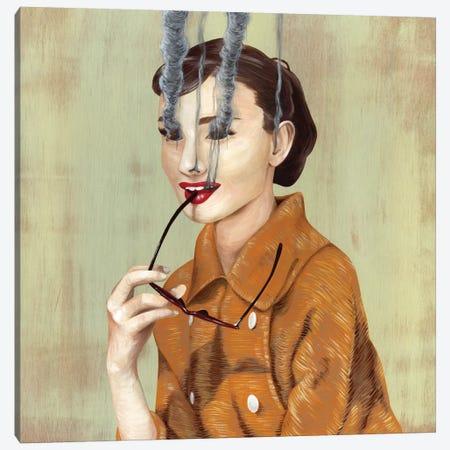 Audrey Hepburn Canvas Print #FAM3} by Famous When Dead Canvas Print