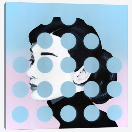 Audrey Canvas Print #FAM45} by Famous When Dead Canvas Art
