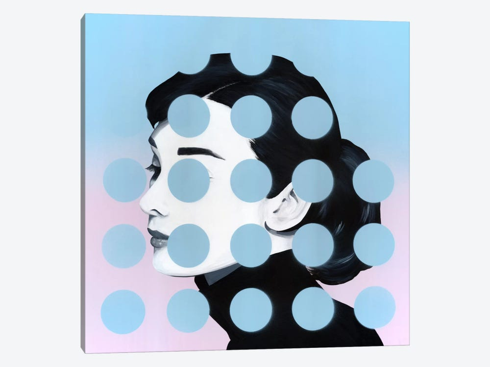 Audrey by Famous When Dead 1-piece Canvas Wall Art