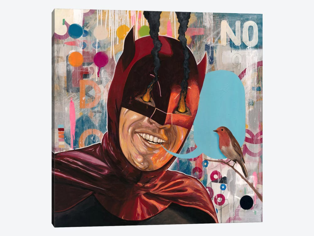 Caped Crusader by Famous When Dead 1-piece Canvas Art Print