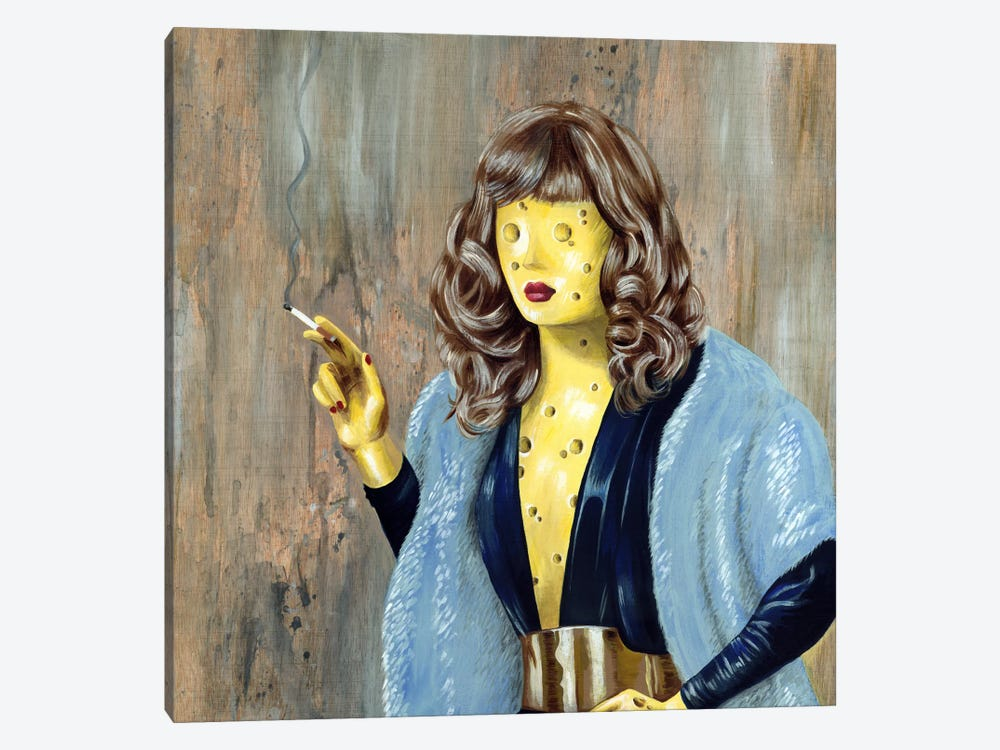 Cheese Lady by Famous When Dead 1-piece Canvas Wall Art