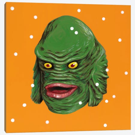 Creature From The Black Lagoon Canvas Print #FAM50} by Famous When Dead Canvas Art