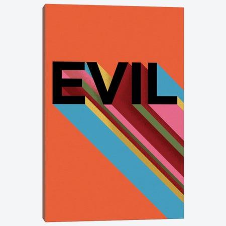 EVIL Canvas Print #FAM51} by Famous When Dead Canvas Artwork