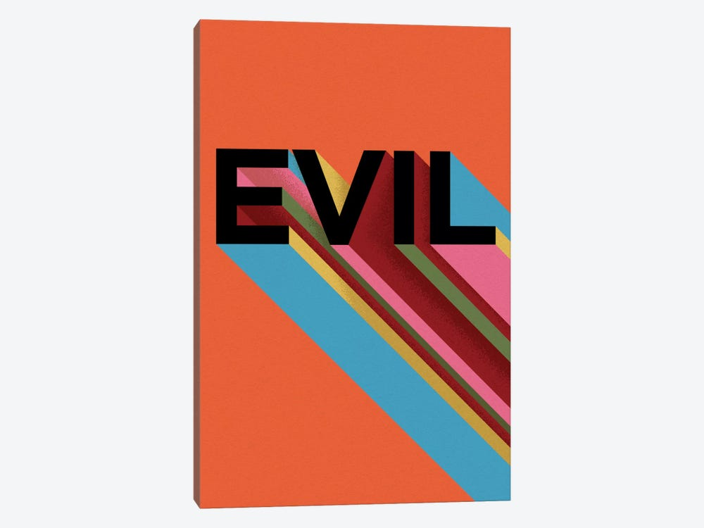 EVIL by Famous When Dead 1-piece Canvas Art Print
