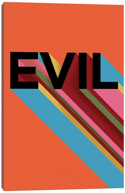 EVIL by Famous When Dead Canvas Art Print