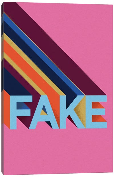 FAKE by Famous When Dead Canvas Art Print