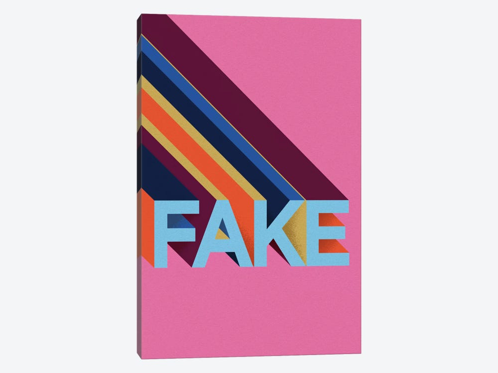 FAKE by Famous When Dead 1-piece Canvas Wall Art