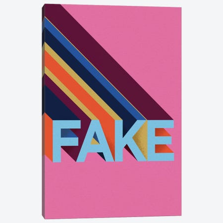 FAKE Canvas Print #FAM52} by Famous When Dead Canvas Artwork
