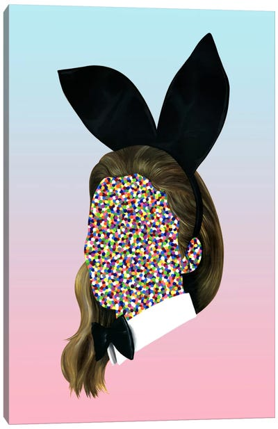 Playboy Bunny Canvas Print #FAM55