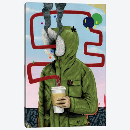 Caffeine Boost Canvas Print #FAM5} by Famous When Dead Canvas Artwork