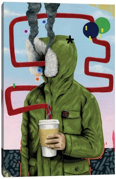 Caffeine Boost by Famous When Dead Canvas Art Print