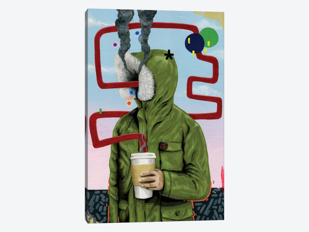 Caffeine Boost by Famous When Dead 1-piece Canvas Artwork
