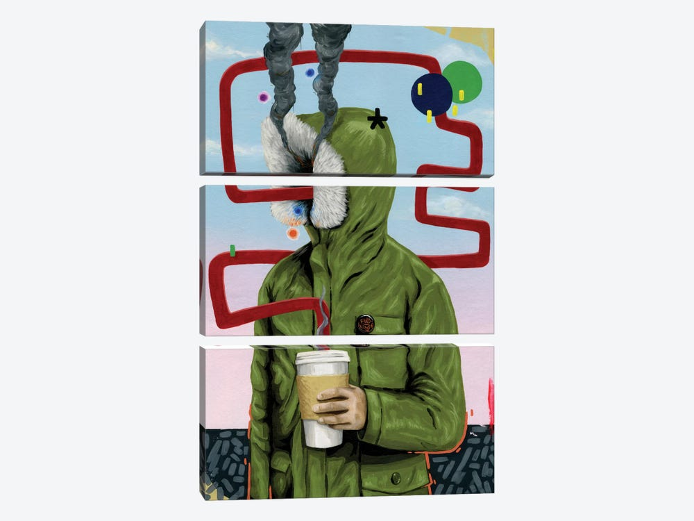 Caffeine Boost by Famous When Dead 3-piece Canvas Artwork