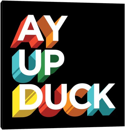Ay Up Duck by Famous When Dead Canvas Art Print