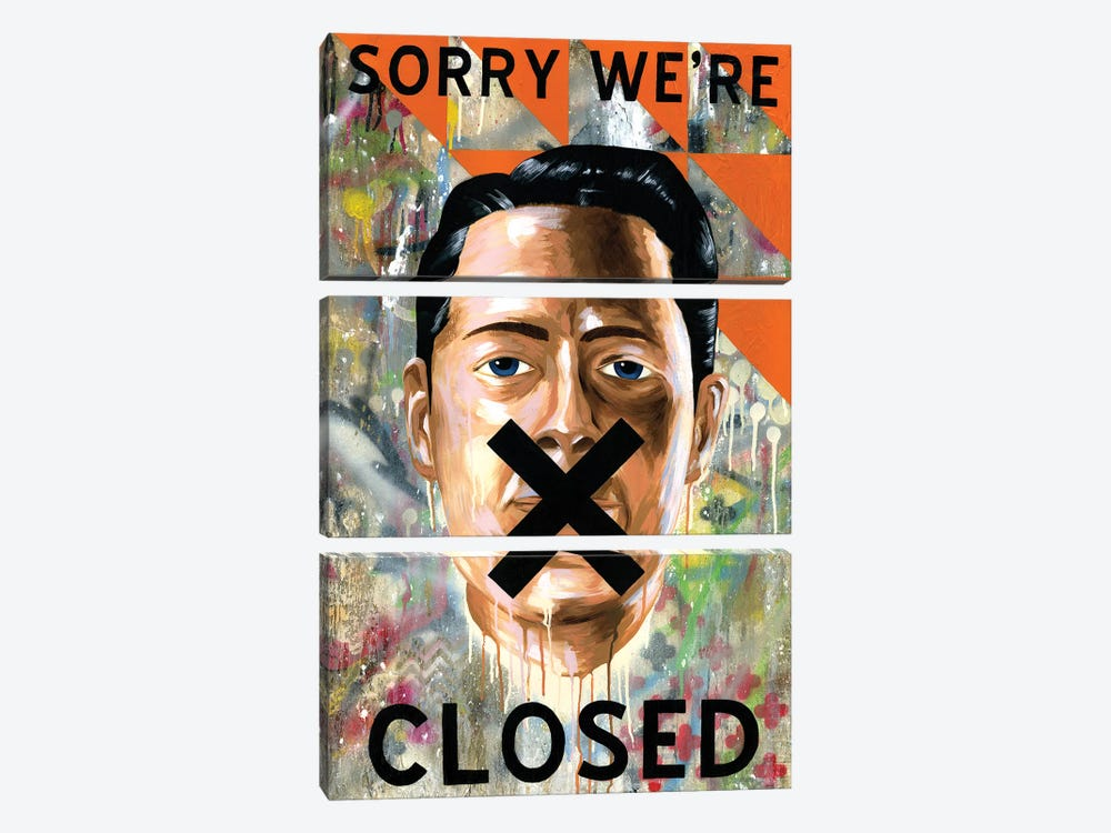 Sorry We're Closed by Famous When Dead 3-piece Canvas Print
