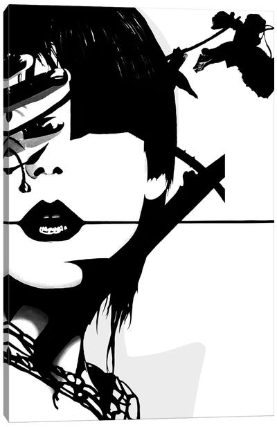 Punk Face Girl by Famous When Dead Canvas Art Print