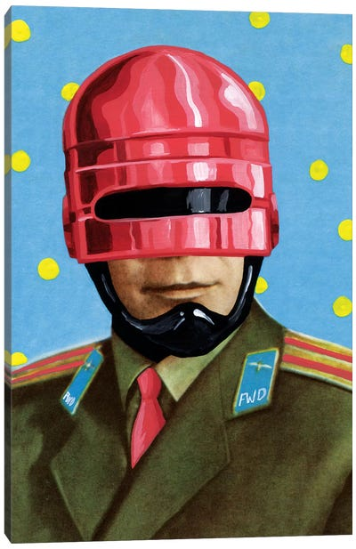 Pink Robocop Canvas Art Print