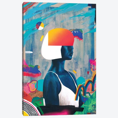 Blue Girl Canvas Print #FAM69} by Famous When Dead Art Print