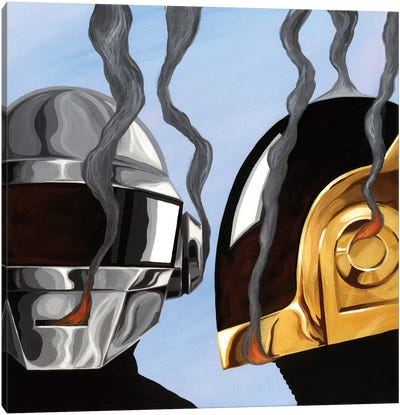 Daft Punk by Famous When Dead Canvas Art Print