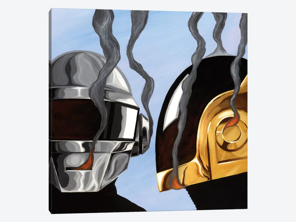 Daft Punk by Famous When Dead 1-piece Canvas Art