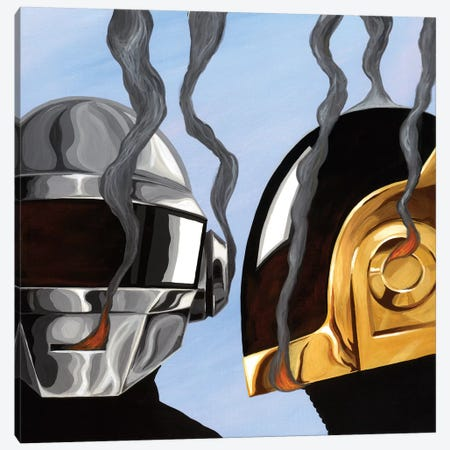 Daft Punk Canvas Print #FAM9} by Famous When Dead Canvas Art Print