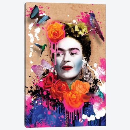 Frida Khalo Canvas Print #FAR11} by Frank Amoruso Canvas Art Print
