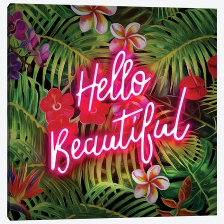 Hello Beautiful Canvas Print #FAR12} by Frank Amoruso Art Print