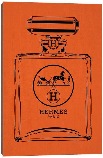 Hermes Black Canvas Art Print