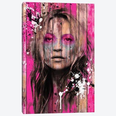 Kate Moss Wood Canvas Print #FAR17} by Frank Amoruso Canvas Wall Art