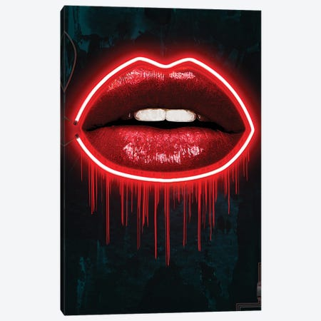 LV Lips Canvas Print #FAR19} by Frank Amoruso Canvas Print
