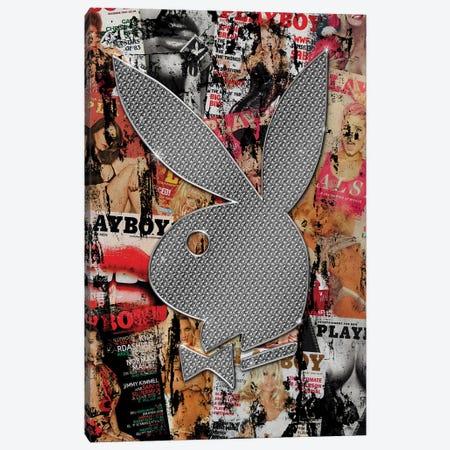 Playboy Bunny White Canvas Print #FAR25} by Frank Amoruso Canvas Print