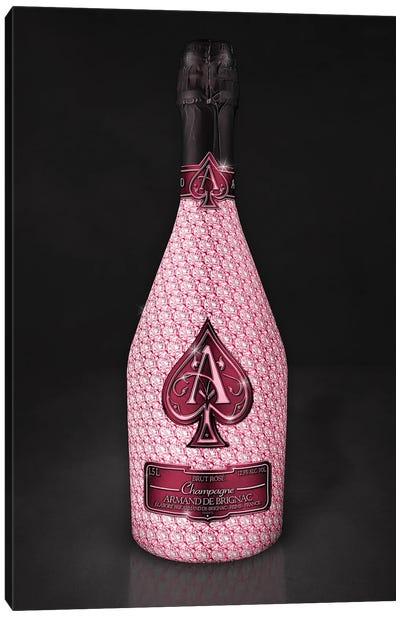Rosé Ace Bottle Canvas Art Print