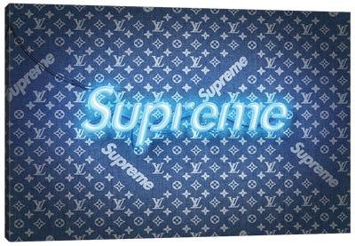 Supreme X LV Denim Canvas Art Print