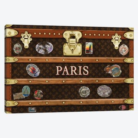 Trunk Vintage LV Paris Canvas Print #FAR34} by Frank Amoruso Canvas Artwork