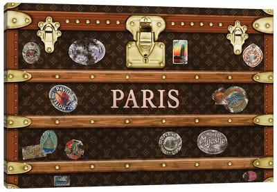 Trunk Vintage LV Paris Canvas Art Print