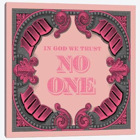 100 Square Pink Grey Canvas Print #FAR3} by Frank Amoruso Canvas Art Print
